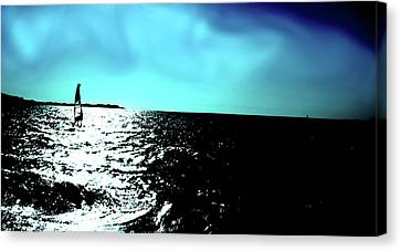 Windsurfing Greece Canvas Print