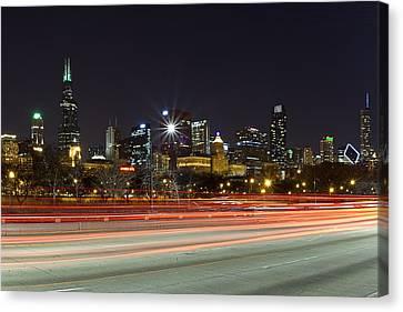 Windy City Fast Lane Canvas Print