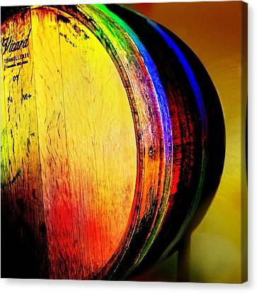 Wine Barrel Canvas Print by Cindy Edwards