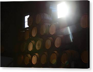 Wine Barrels Canvas Print by Viktor Savchenko
