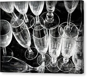 Wine Glasses Canvas Print by Lainie Wrightson