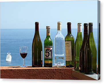 Wine In Mandatory In France Canvas Print by Chris Ann Wiggins