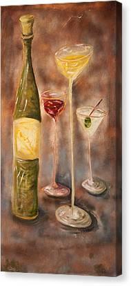 Wine Or Martini? Canvas Print