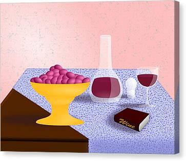 Wine Still Life Canvas Print by Hyrum Hammon