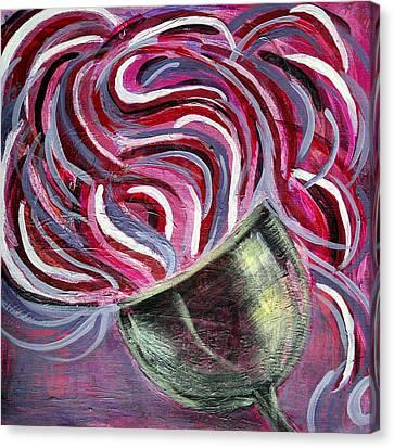 Wine Swirl Canvas Print by Janice Gelona