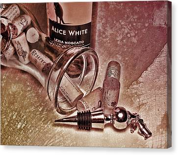 Wine Texture Canvas Print by Peter Chilelli