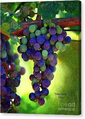 Wine To Be - Art Canvas Print by Patrick Witz