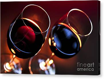 Wineglasses Canvas Print by Elena Elisseeva
