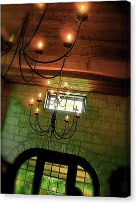 Winery Ceiling Canvas Print by Amber Hennessey