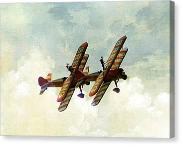 Wing Walkers Canvas Print by Jacqui Kilcoyne
