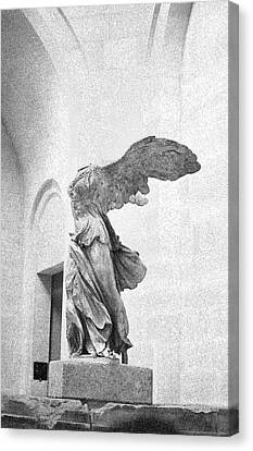 Winged Victory Of Samothrace Canvas Print by Louis Nugent