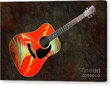 Wings Of Paradise Abstract Guitar Canvas Print by Andee Design