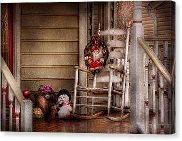 Winter - Metuchen Nj - Waiting For Santa  Canvas Print