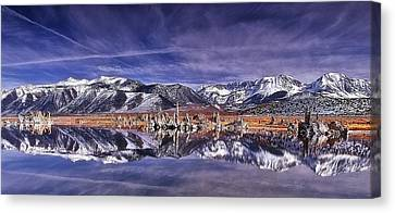 Canvas Print featuring the photograph Winter Around The Lake by Thomas Born