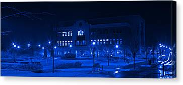 Winter Blues - Love In The Library Canvas Print by John Stephens