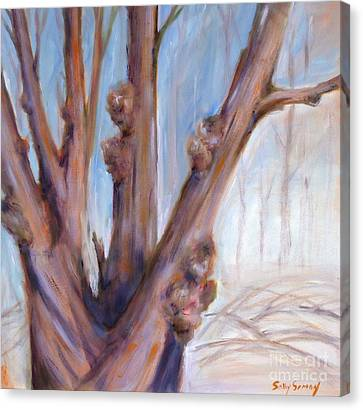 Canvas Print featuring the painting Winter Bones by Sally Simon