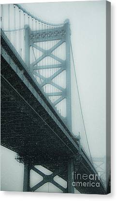 Winter Bridge Canvas Print