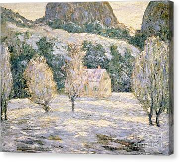 Snow Landscape Canvas Print - Winter by Ernest Lawson