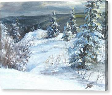 Winter Escape Canvas Print by Patricia Seitz