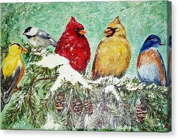 Winter Friends Canvas Print