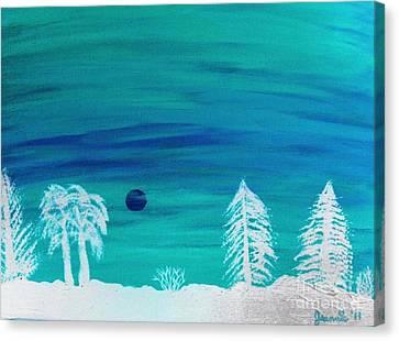 Winter Glow Canvas Print by Jeannie Atwater Jordan Allen