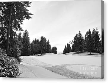 Winter Golf Course  2 Canvas Print by Tanya  Searcy