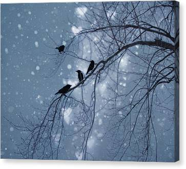 Winter Hearts Canvas Print by Gothicrow Images