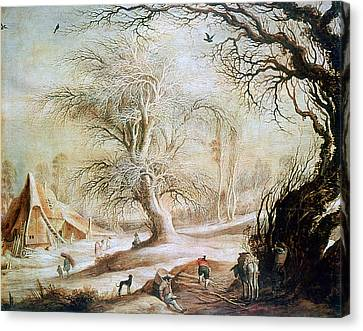'winter Landscape', 17th Century, Painting Canvas Print by Photos.com