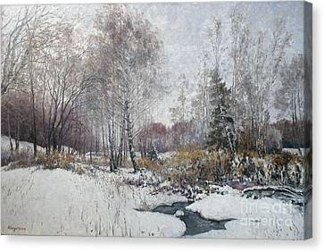Winter Landscape Canvas Print by Andrey Soldatenko