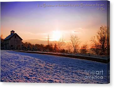 Winter Landscape Connecticut Usa Canvas Print by Sabine Jacobs