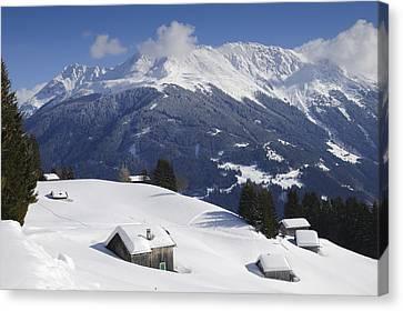 Vorarlberg Canvas Print - Winter Landscape In The Mountains by Matthias Hauser