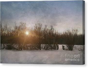 Winter Landscape  Canvas Print by Sandra Cunningham