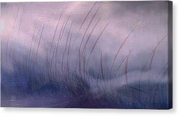 Winter Long Grass Canvas Print