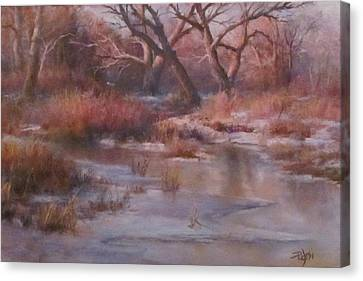 Winter Marsh Series - The Dance Canvas Print