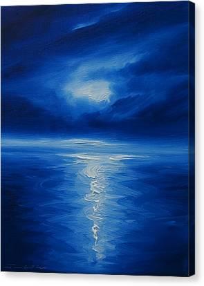 Winter Moon Vi Canvas Print