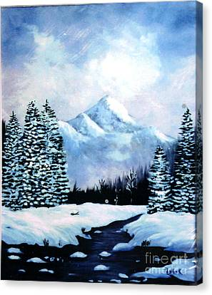 Winter Mountains Canvas Print by Phyllis Kaltenbach