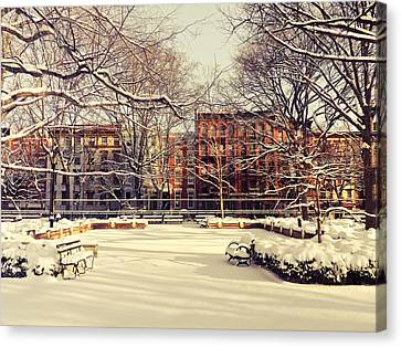 East Village Canvas Print - Winter - New York City by Vivienne Gucwa