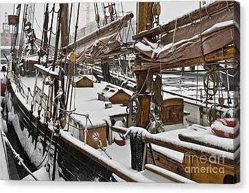 Winter On Deck Canvas Print by Heiko Koehrer-Wagner