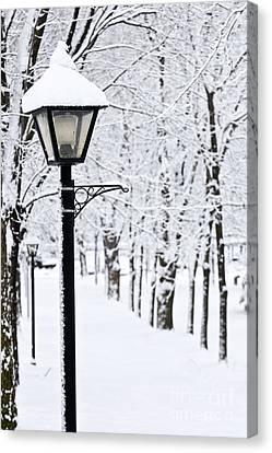Winter Park Canvas Print