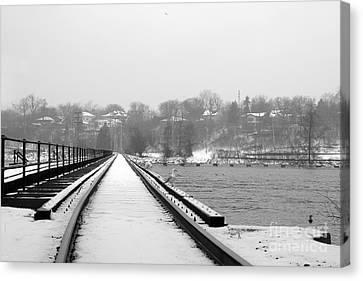 Winter Rails Canvas Print by Joel Witmeyer