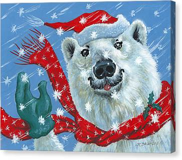 Winter Really Is A Blast Canvas Print by Richard De Wolfe