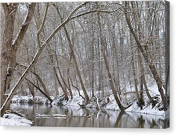 Winter River Reflection 1 Canvas Print