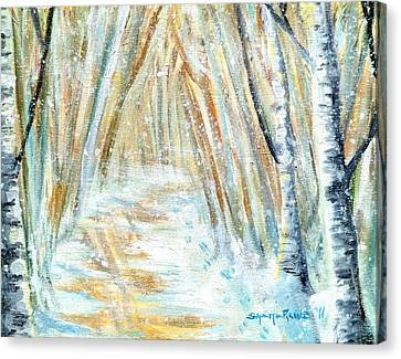 Canvas Print featuring the painting Winter by Shana Rowe Jackson