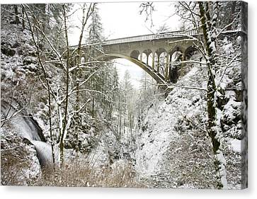 Winter, Shepperds Dell, Columbia River Canvas Print by Craig Tuttle