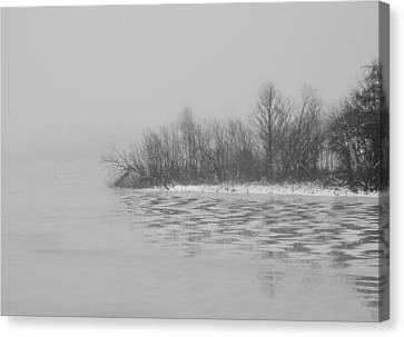 Winter Shore Canvas Print by Odd Jeppesen