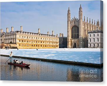 Canvas Print featuring the photograph Winter Snow At Kings by Andrew  Michael