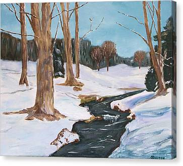 Winter Solitude Canvas Print by Cynthia Morgan