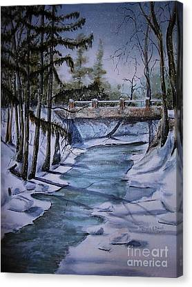 Winter Solitude Canvas Print by Marylyn Wiedmaier