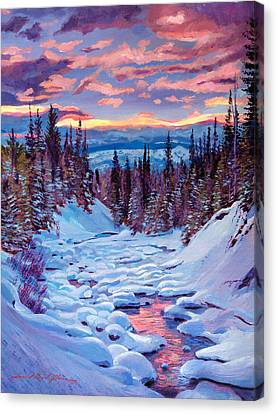 Selecting Canvas Print - Winter Solstice by David Lloyd Glover