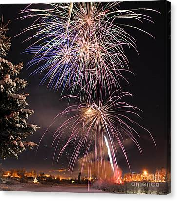 Winter Solstice Fireworks Canvas Print